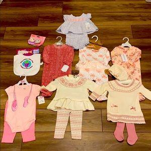 💝Baby girl 3-6 month bundle NWT💝